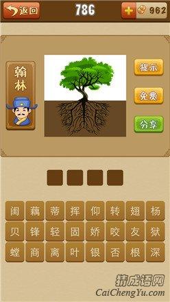 看图猜成语一棵大树很多树根打一成语